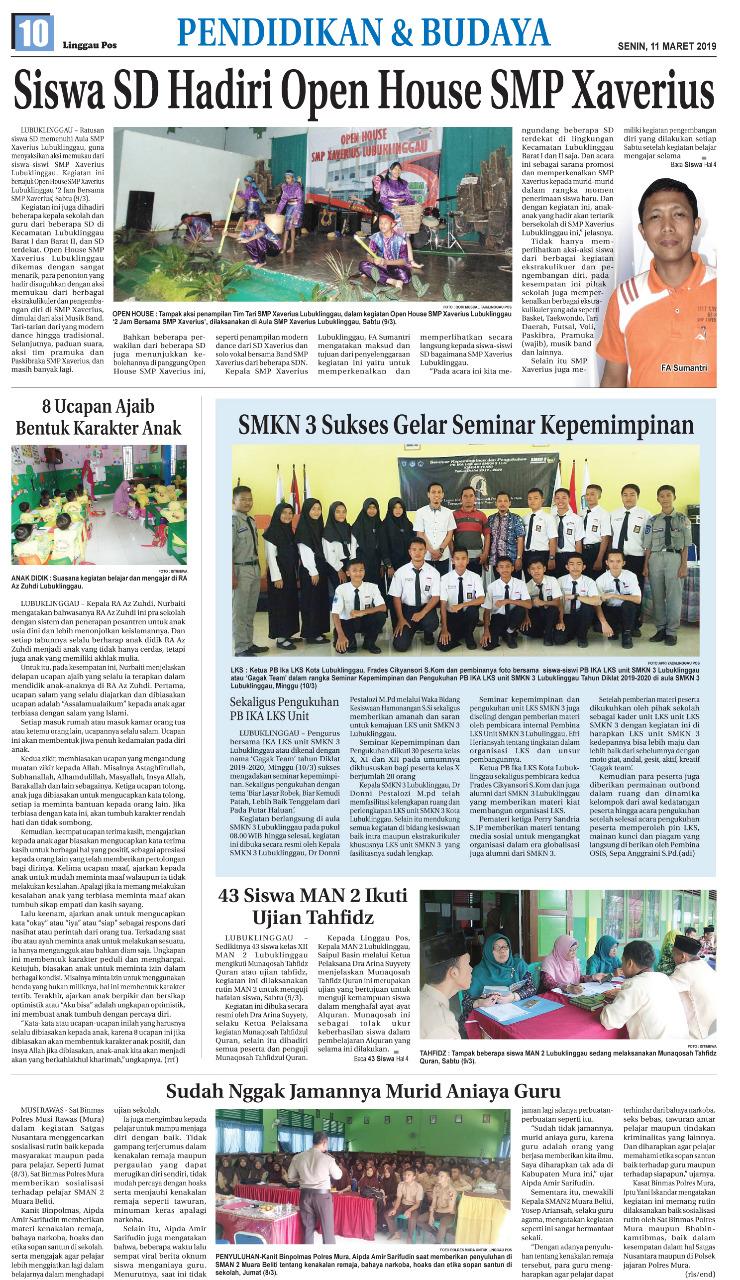 Kegiatan Seminar  Kepemimpinan SMK Negeri 3 Lubuklinggau Sukses Digelar !!!